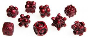 Irondie The Game - 9-Dice Basic Set - Unlimited red