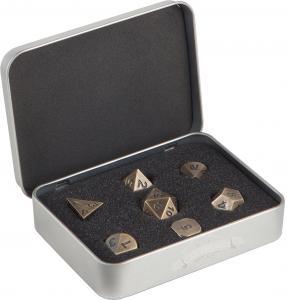 Набор кубиков Metal Dice Set - Antique Gold (7 шт)