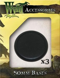 Malifaux: Black 50mm Translucent Bases