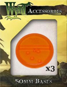 Malifaux: Orange 50mm Translucent Bases