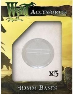 Malifaux: Clear 40mm Translucent Bases