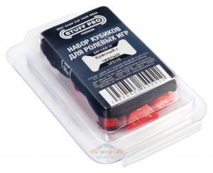 Премиум-набор кубиков для ролевых игр STUFF PRO. Красный с черным