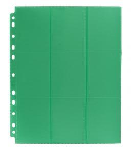 Лист двусторонний с кармашками 3х3 с боковой загрузкой - Blackfire (зелёный)