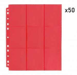 Упаковка листов двусторонних с кармашками 3х3 с боковой загрузкой - Blackfire (красный)