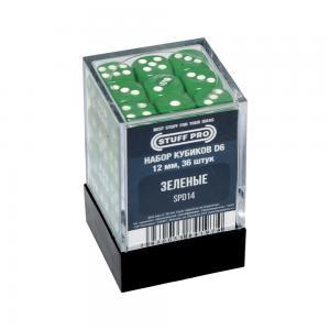 Набор кубиков STUFF PRO D6. Зеленые 12мм 36 шт