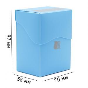 Пластиковая коробочка Blackfire вертикальная - Светло-синяя (80+ карт)