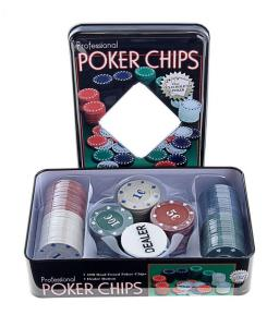 Набор покера на 100 фишек в жестяной коробке