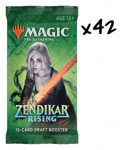 MTG: 42 драфт-бустера издания Zendikar Rising на английском языке