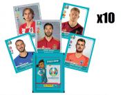 10-x soccer stickers panini UEFA EURO 2020 TM PREVIEW