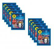 10 пакетиков наклеек TOPPS UEFA CHAMPIONS LEAGUE 2020/2021