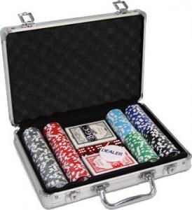 Набор спортивного покера в алюминиевом кейсе с номиналом (200 фишек)