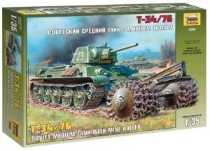 Советский средний танк с минным тралом Т-34/76