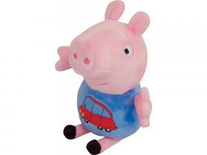 Свинка Пеппа. Мягкая игрушка арт.29620 Джордж с машинкой 18 см.