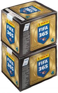 "2 бокса наклеек Panini ""FIFA 365-2017"""