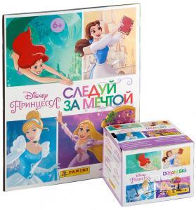 Бокс наклеек Panini Disney - Принцессы. Следуй за мечтой + альбом в подарок