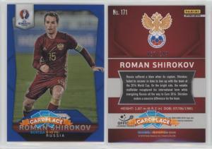 Panini Prizm UEFA Euro 2016 Blue Prizms - #171 Роман Широков