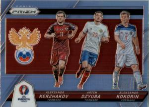 Panini Prizm UEFA EURO 2016 France - #17 Aleksandr Kerzhakov Aleksandr Kokorin Artem Dzyuba