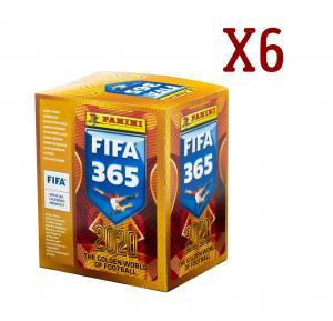 6 боксов наклеек FIFA 365-2020 от Panini