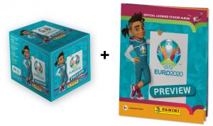 Бокс наклеек UEFA EURO 2020 TM PREVIEW от Panini + альбом