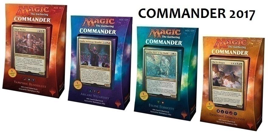 MTG набор из 4х колод Commander 2017 Edition